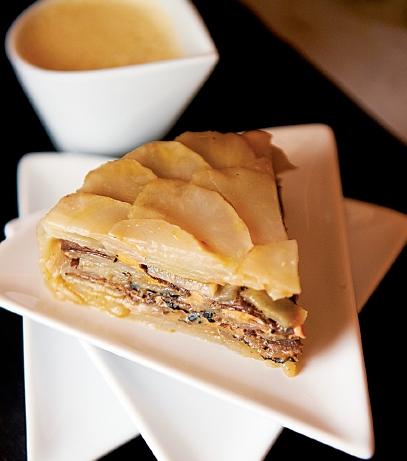 Gateau de Topinambours et foie gras à la truffe